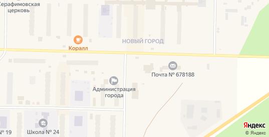 Центральная площадь в Удачном с номерами домов на карте. Спутник и схема онлайн