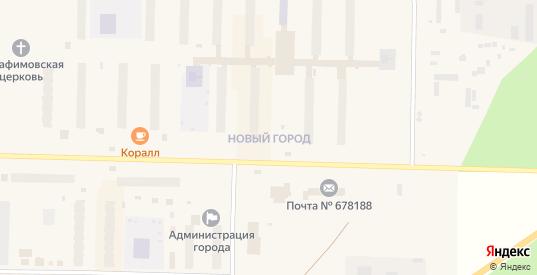 Микрорайон Новый город в Удачном с номерами домов на карте. Спутник и схема онлайн