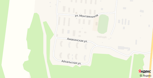 Амакинская улица в Удачном с номерами домов на карте. Спутник и схема онлайн