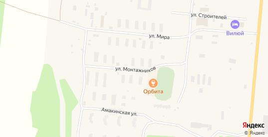 Улица Монтажников в Удачном с номерами домов на карте. Спутник и схема онлайн