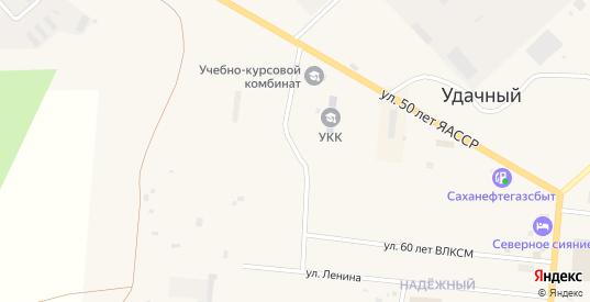 Улица 50 лет ЯАССР в Удачном с номерами домов на карте. Спутник и схема онлайн