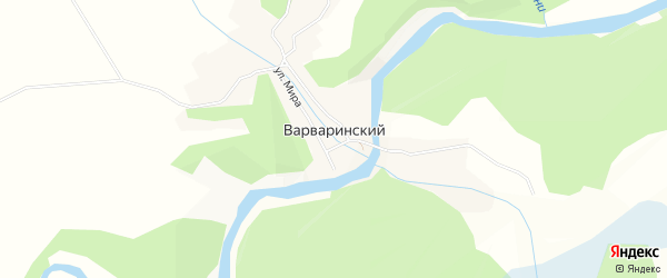 Карта Варваринского поселка в Бурятии с улицами и номерами домов