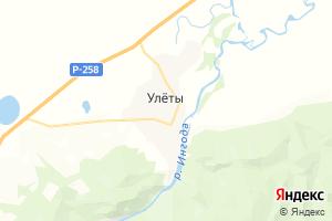 Карта с. Улёты Забайкальский край