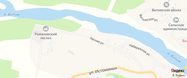 Лесная улица на карте села Романовки с номерами домов