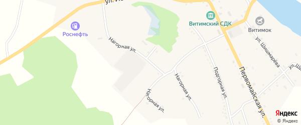 Нагорная улица на карте села Романовки Бурятии с номерами домов