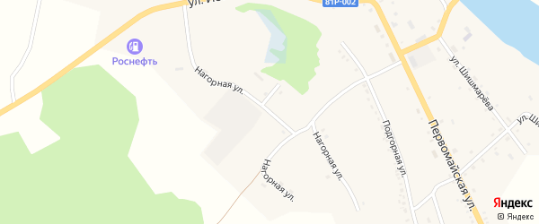 Нагорная улица на карте села Романовки с номерами домов