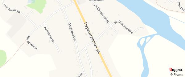 Первомайская улица на карте села Романовки с номерами домов