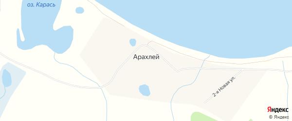 Карта села Арахлея в Забайкальском крае с улицами и номерами домов