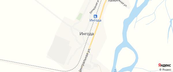 Карта территории НСТ Ингоды в Забайкальском крае с улицами и номерами домов