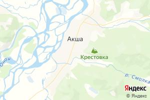 Карта с. Акша Забайкальский край