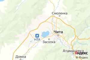 Карта г. Чита Забайкальский край