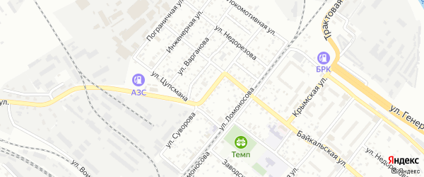 Улица Суворова на карте территории ДНТ Молодежного Забайкальского края с номерами домов