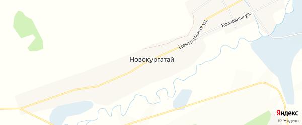 Карта села Новокургатая в Забайкальском крае с улицами и номерами домов