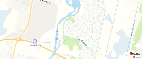 Территория СНТ N116 Здоровье на карте Читинского района Забайкальского края с номерами домов