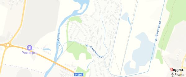Территория НСТ N 73 Союз на карте Читинского района Забайкальского края с номерами домов
