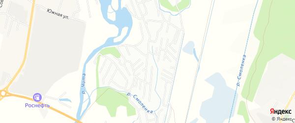 Территория СНО ТСН N106 Радость на карте Читинского района Забайкальского края с номерами домов