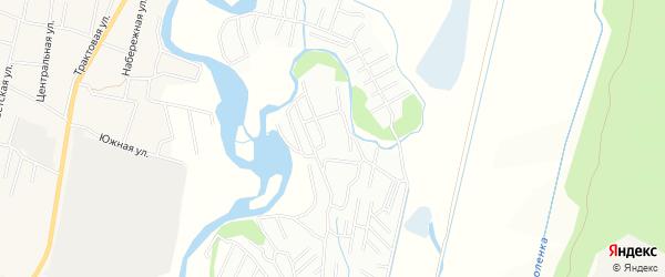 Территория СНТ N 12 Мир на карте Читинского района Забайкальского края с номерами домов