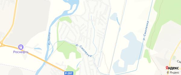 Территория СТ N 106 Радость на карте Читинского района Забайкальского края с номерами домов