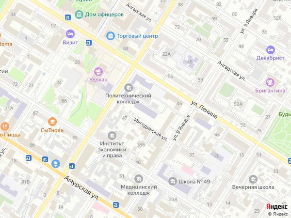 Карта читы с фотографиями улиц