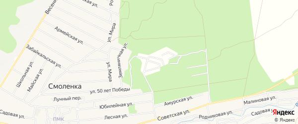 Территория ТСН ТСН Радость на карте Читинского района Забайкальского края с номерами домов