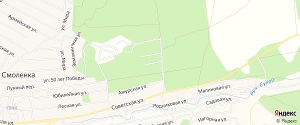 Карта территории ДНТ Березки в Забайкальском крае с улицами и номерами домов