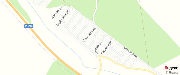 Нагорная улица на карте территории ДНТ Соснового Забайкальского края с номерами домов