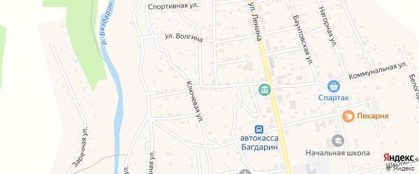 Первомайская улица на карте села Багдарина с номерами домов