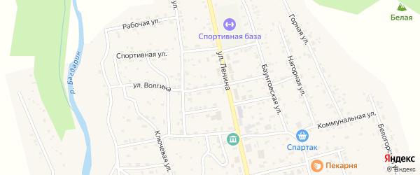 Улица Волгина на карте села Багдарина с номерами домов