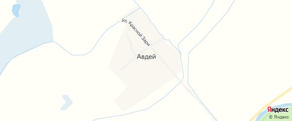 Карта села Авдея в Забайкальском крае с улицами и номерами домов