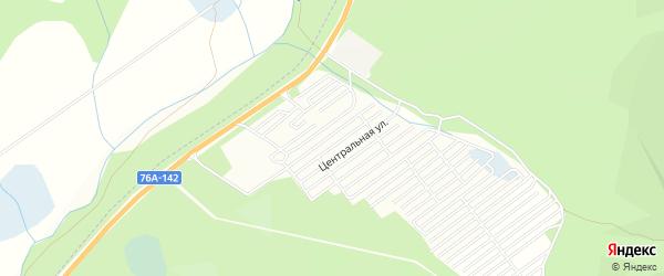Территория днт Раздольное на карте Читинского района Забайкальского края с номерами домов