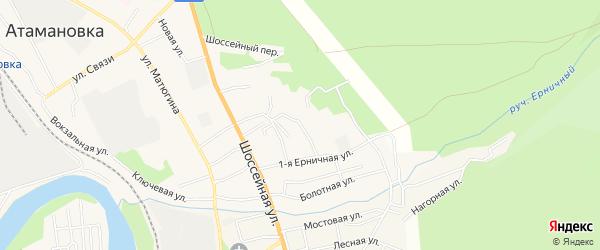 Территория ДНТ Молодежный на карте Читинского района Забайкальского края с номерами домов