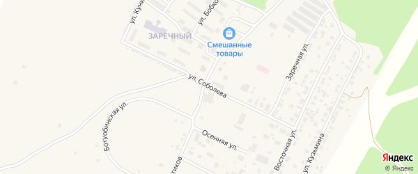 Улица Соболева на карте Мирного с номерами домов