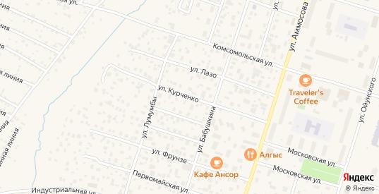 Улица Курченко в Мирном с номерами домов на карте. Спутник и схема онлайн