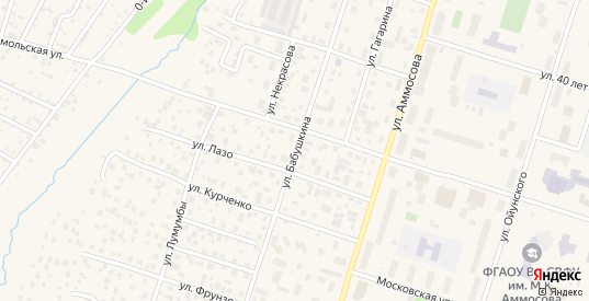 Улица Бабушкина в Мирном с номерами домов на карте. Спутник и схема онлайн