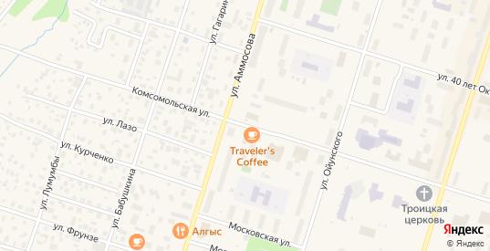 Комсомольская улица в Мирном с номерами домов на карте. Спутник и схема онлайн