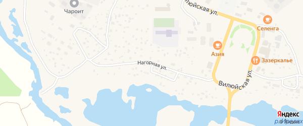 Нагорная улица на карте Мирного с номерами домов