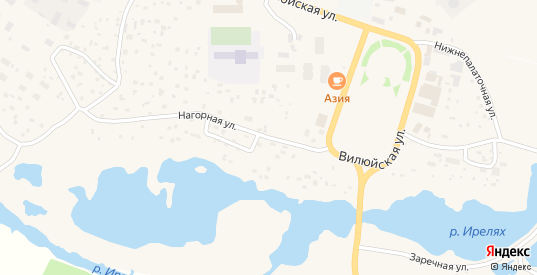 Нагорная улица в Мирном с номерами домов на карте. Спутник и схема онлайн