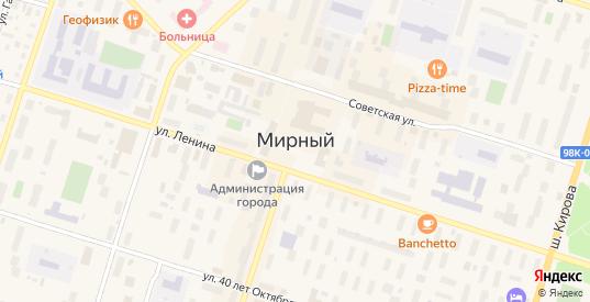 Лесная улица в Мирном с номерами домов на карте. Спутник и схема онлайн