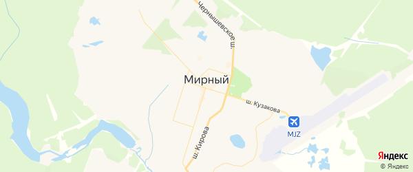 Карта Мирного с районами, улицами и номерами домов