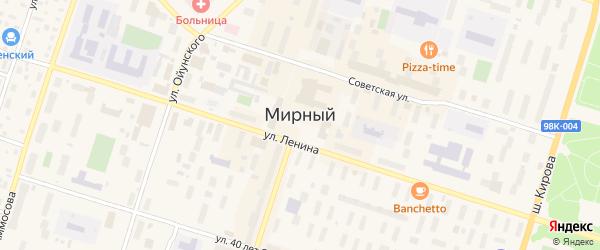 Проезд Энергетиков на карте Мирного с номерами домов