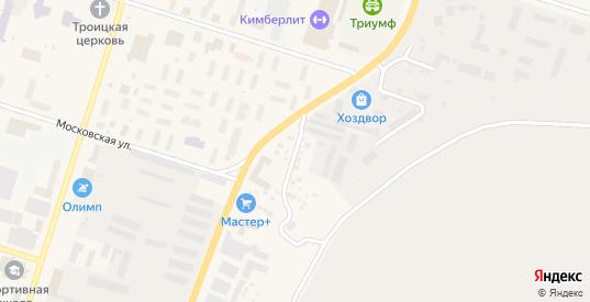 Гаражная улица в Мирном с номерами домов на карте. Спутник и схема онлайн