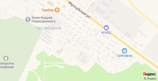 Звездная улица в Мирном с номерами домов на карте. Спутник и схема онлайн