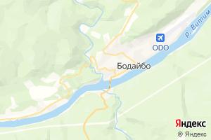 Карта г. Бодайбо Иркутская область