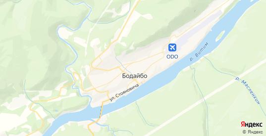 Карта Бодайбо с улицами и домами подробная. Показать со спутника номера домов онлайн