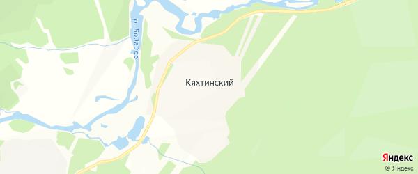 Карта Кяхтинского поселка в Иркутской области с улицами и номерами домов