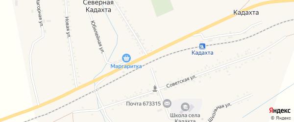 Нагорная улица на карте села Северной Кадахты Забайкальского края с номерами домов
