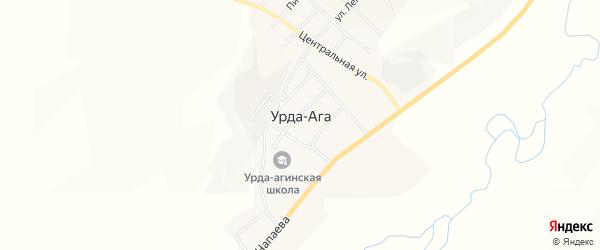 Карта села Урды-Ага в Забайкальском крае с улицами и номерами домов