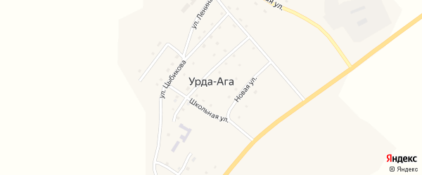 Учительская улица на карте села Урды-Ага Забайкальского края с номерами домов