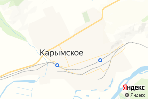 Карта пос. Карымское Забайкальский край