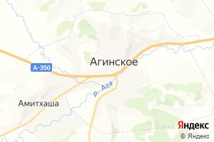 Карта пгт Агинское Забайкальский край